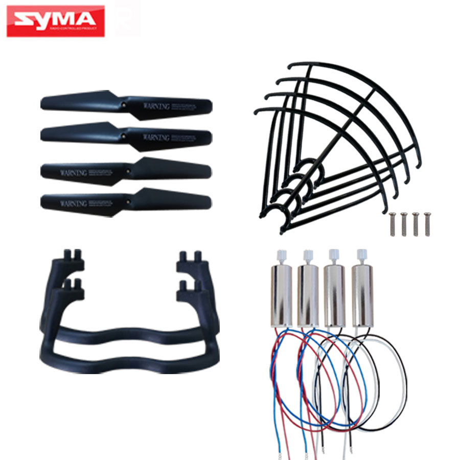 5Color Replacement Accessories For Syma X5 X5C Quadcopter Spare Parts Motor + Propeller Blade + Protection Frame RC Drone Parts